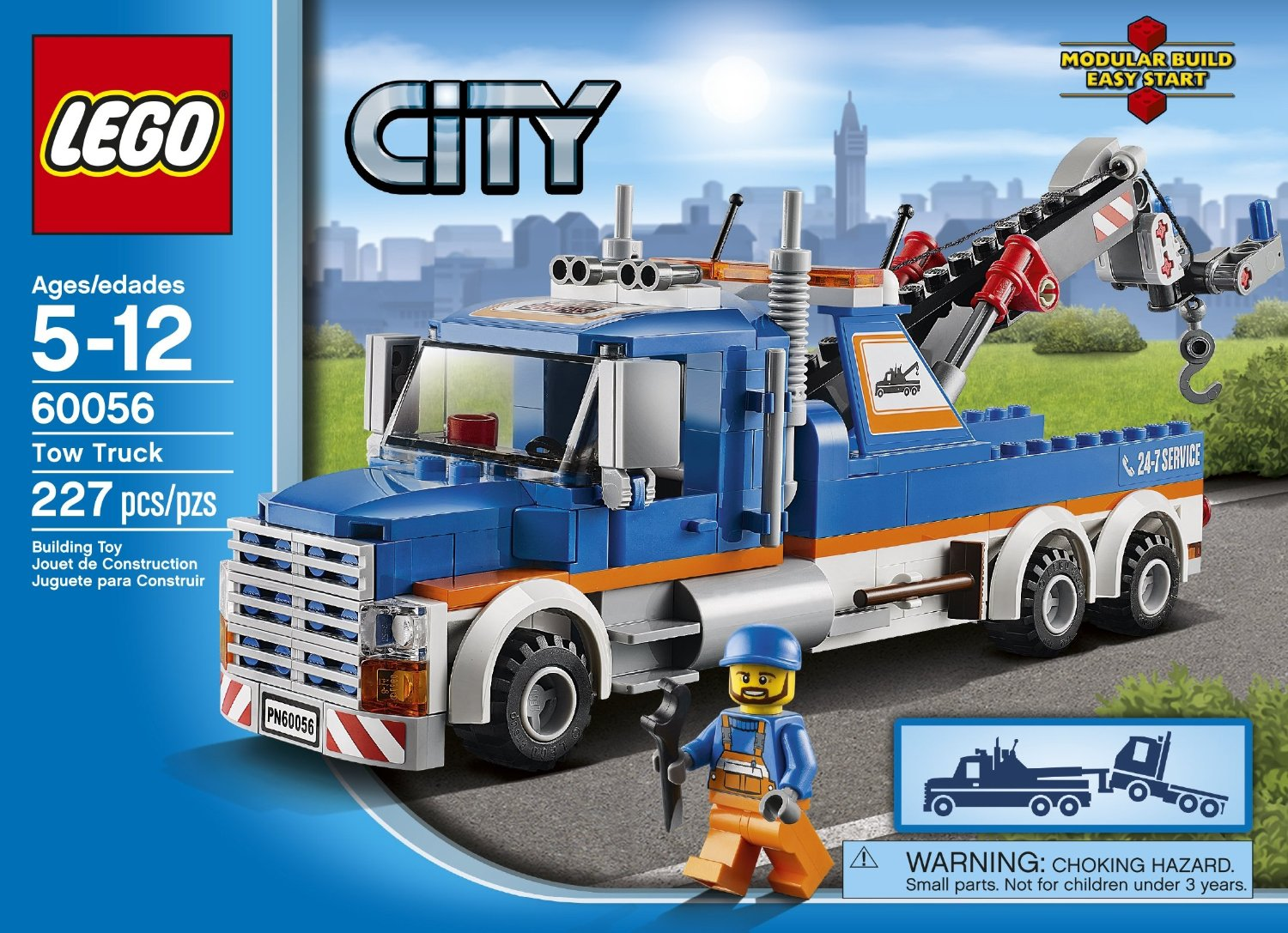 lego tow truck instructions 60017