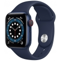 Smartwatch Apple Watch Series 6 GPS + Cellular 44mm Aluminium niebieski z granatowym paskiem Sport