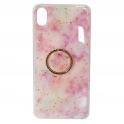 Etui SAMSUNG GALAXY A70 Marble Ring jasny róż