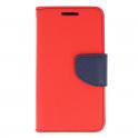Etui portfel Fancy XIAOMI REDMI 7 czerwony/granat
