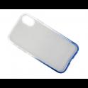 Etui Glitter IPHONE XS MAX srebrno- niebieskie