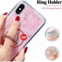 Etui IPHONE X / XS Marble Ring turkusowe