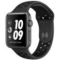 Smartwatch Apple Watch Series 3 GPS 42mm Aluminium szary z czarnym paskiem Nike Sport