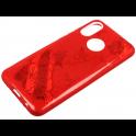 Etui Brokat Glitter SAMSUNG GALAXY S10 czerwony kwiat