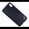 Etui Twill Texture IPHONE XS MAX granatowe