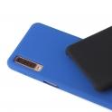 Etui Silicone Case elastyczne silikonowe SAMSUNG GALAXY A7 2018 granatowe