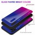 Etui Szklane Glass case Gradient SAMSUNG GALAXY A80 czarno-niebieskie