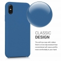 Etui Silicone Case elastyczne silikonowe HUAWEI P SMART 2019 granatowe