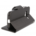 Etui portfel Fancy SAMSUNG G388 XCOVER 4 czarne