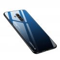 Etui Szklane Glass case Gradient HUAWEI MATE 20 LITE czarno-niebieskie