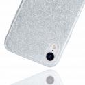 Etui Brokat Glitter SAMSUNG GALAXY A20E srebrne