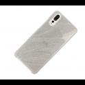 Etui Wave glitter HUAWEI P20 srebrne