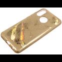 Glitter case SAMSUNG GALAXY J6 gold flower