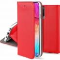 Etui MOTOROLA MOTO G8 POWER LITE portfel z klapką Flip Magnet czerwone