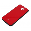 Etui Glass SAMSUNG J6+ J6 PLUS 2018 czerwone