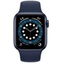Smartwatch Apple Watch Series 6 GPS 44mm Aluminium niebieski z granatowym paskiem Sport