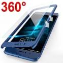 Etui full 360 + szkło hartowane SAMSUNG J6+ J6 PLUSniebieskie