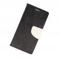 Etui portfel fancy SAMSUNG S9+ czarno-biały shine