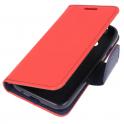 Etui portfel z klapką Fancy SAMSUNG GALAXY NOTE 10 czerwono-granatowe
