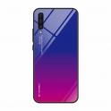 Etui Szklane Glass case Gradient HUAWEI Y5 2018 niebiesko-różowe