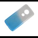 Etui Glitter MOTOROLA MOTO E5+ srebrno-niebieskie