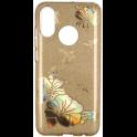 Etui Brokat Glitter SAMSUNG GALAXY A7 2018 złoty kwiat