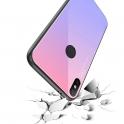 Etui Glass Case Rainbow HUAWEI Y7 2019 brązowo-czarne