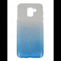 Etui Glitter SAMSUNG J6 2018 srebrno-niebieskie