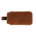 Etui wsuwka skórzana Pocket Split SAMSUNG S8/ S9/ A6/ HUAWEI P9 LITE MINI/ IPHONE X/ LG L3 brąz