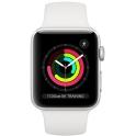 Smartwatch Apple Watch Series 3 GPS 42mm Aluminium srebrne z białym paskiem Sport