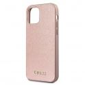 "Oryginalne Etui IPHONE 12 / 12 PRO (6,1"") Guess Hardcase Iridescent GUHCP12MIGLRG różowo-złote"