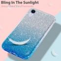 Etui Brokat Glitter SAMSUNG GALAXY A10 srebrno-niebieskie