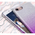 Etui Brokat Glitter SAMSUNG GALAXY S10 srebrno-fioletowe