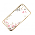 Elastyczne żelowe etui Back Case Flower SAMSUNG GALAXY A10 złote