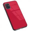nemo Etui SAMSUNG GALAXY A51 Szklane Glass Case czerwone