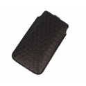 Etui wsuwka skórzana Daisies SAMSUNG S8/ S9/ LG G3/ IPHONE X/  HUAWEI P9 LITE MINI czarne