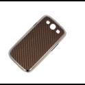 Etui Polaroid magnetic carbon Samsung S3 brąz