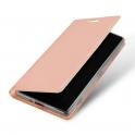 Etui IPHONE 11 PRO z klapką Dux Ducis skórzane Skin Leather jasny róż