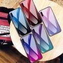 Etui Szklane Glass case Gradient IPHONE X XS niebiesko-różowe