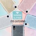 Etui SAMSUNG GALAXY S10E Brokat Glitter srebrny