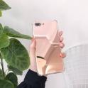 Etui Lustro Mirror Anti shock IPHONE X srebrne