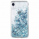 Etui plecki brokatowe Liquid IPHONE 11 PRO niebieskie