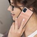 nemo Etui SAMSUNG GALAXY A71 Szklane Glass Case jasny róż
