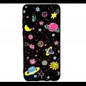 Etui Slim case Art SAMSUNG GALAXY A7 2018 różowe planety