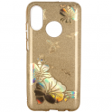 Etui Brokat Glitter XIAOMI MI A2 LITE złoty kwiat