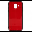Etui Glass SAMSUNG A6 2018 czerwone