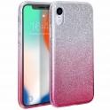 Etui Brokat Glitter SAMSUNG GALAXY A10 srebrno-różowe
