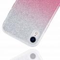 Etui Brokat Glitter SAMSUNG GALAXY A70 srebrno-różowe