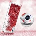 Etui plecki brokatowe Liquid LG Q60 czerwone