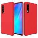 Etui Silicone Case elastyczne silikonowe HUAWEI P30 LITE czerwone